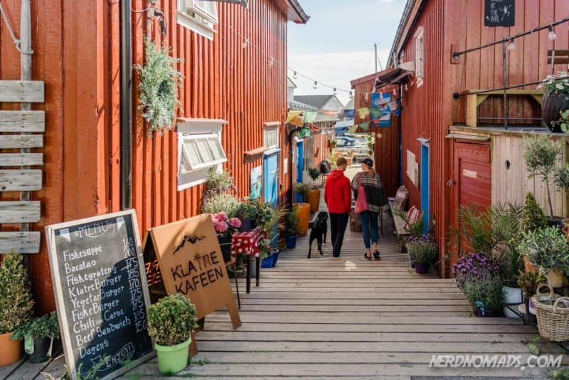 The cool restaurant and cafe Klatrekafeen Henningsvaer Lofoten