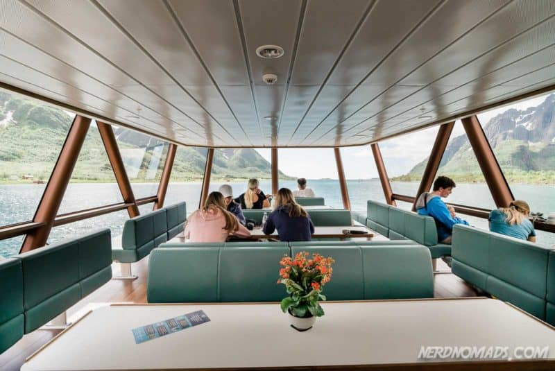 Inside Trollfjord cruise with silent electric ship Brim Explorer