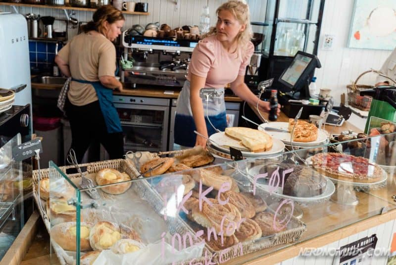 Lots of pastries and sandwiches at Lysstoperiet Cafe Henningsvaer Lofoten