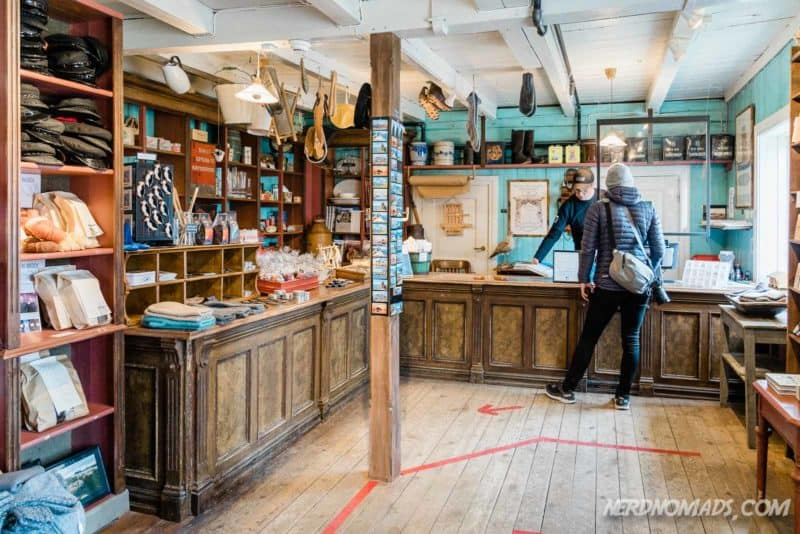 Shop/ krambu at Lofoten Museum in Kabelvag
