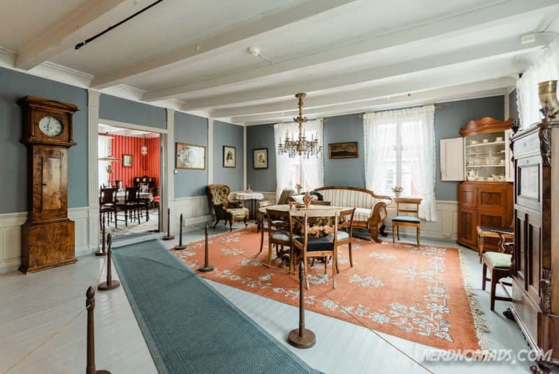 Living room at Lofoten Museum in Kabelvag