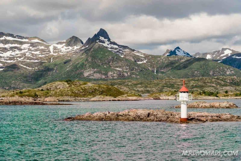 Beautiful Lofoten landscape in Trollfjord