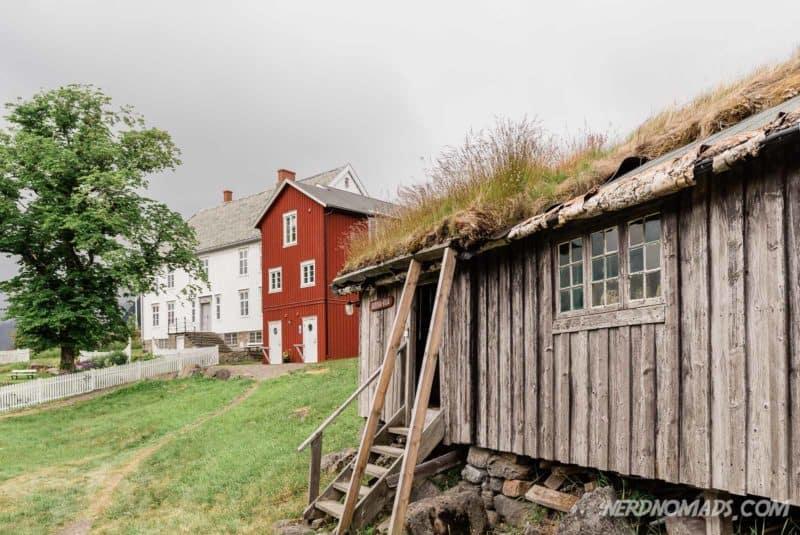 The lovely outdoor folk museum Lofoten Museum in Kabelvag