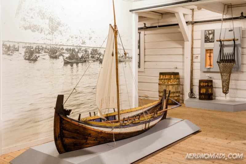 Nordland boat at Lofoten Museum in Kabelvag