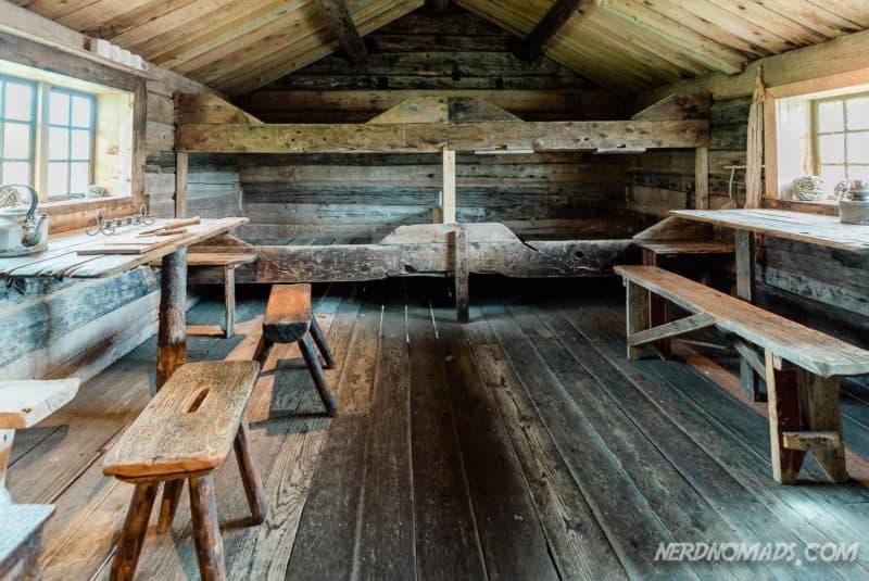 Old rorbue at Lofoten Museum in Kabelvag