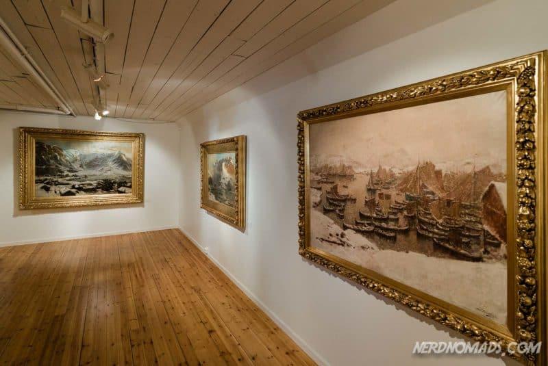 Landscape paintings of Lofoten at Gallery Lofoten in Henningsvaer