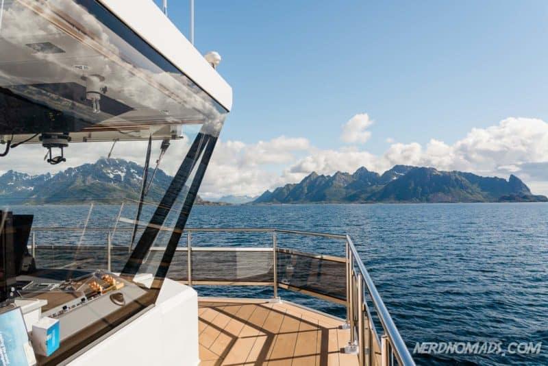 Panoramic view at Trollfjord cruise