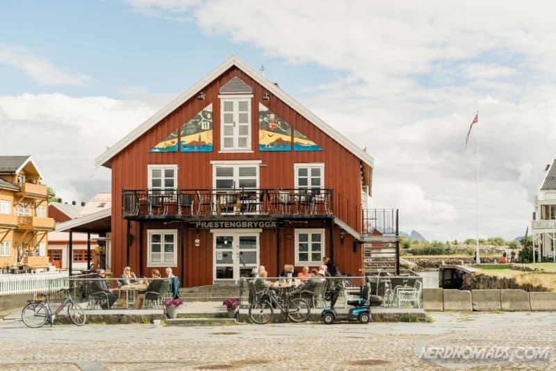 Prestengbrygga Restaurant in Kabelvåg, Lofoten
