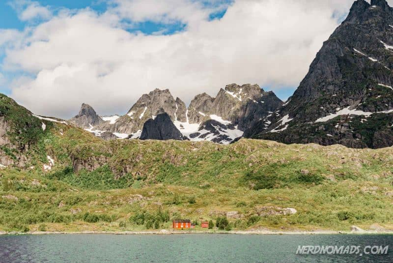 Beautiful landscape Trollfjord cruise with silent electric ship Brim Explorer