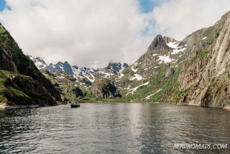 Trollfjord cruise with silent electric ship Brim Explorer