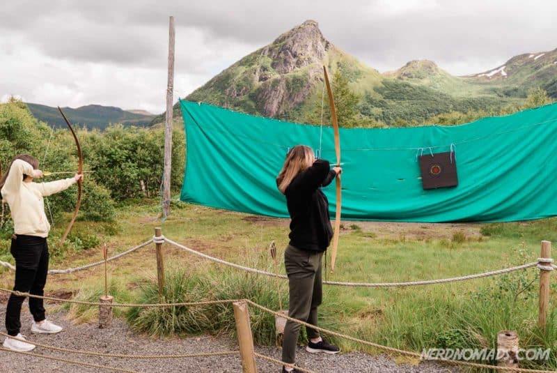 Archery range at Lofotr