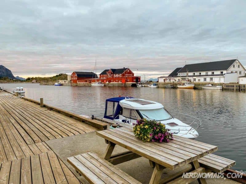 Fantastic view from Henningsvaer Bryggehotell