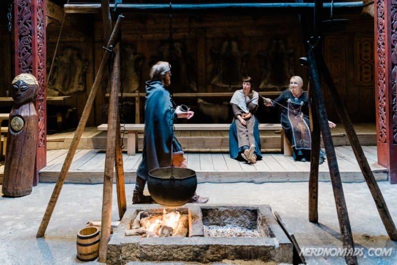 Feast Hall fire pit at Lofotr Viking Museum