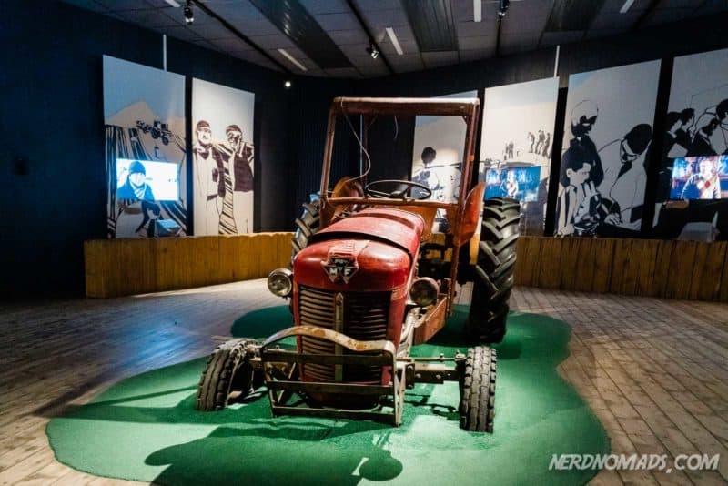 Exhibition hall at Lofotr, Lofoten's viking museum