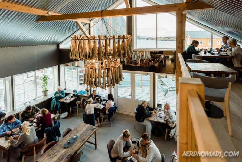 Cozy atmosphere Anitas Seafood Sakrisoy Reine Lofoten