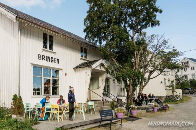 Bringen Cafe in Reine, Lofoten, Norway