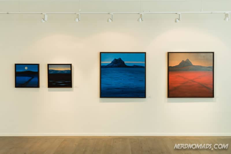 Eva Harr paintings at Harr Art Gallery in Reine Lofoten