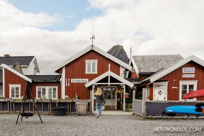 Gammelbua Restaurant in Reine, Lofoten, Norway