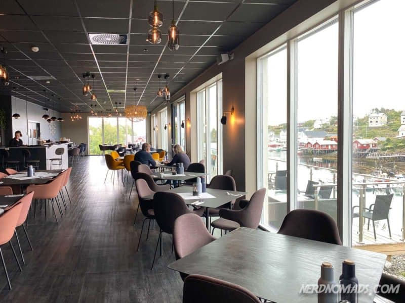 Havet Restaurant in Sorvagen just outside Reine in Lofoten