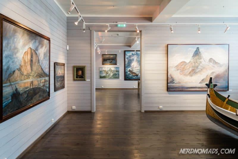 Karl Erik Harr paintings at Harr Art Gallery in Reine Lofoten