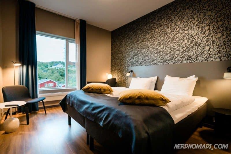 Our room at Lofoten Rorbuhotell in Sorvagen, just outside Reine in Lofoten