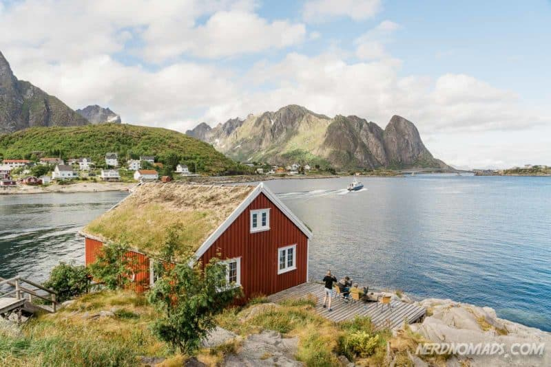 Reine is a great place to head out on the sea in boat or kayak