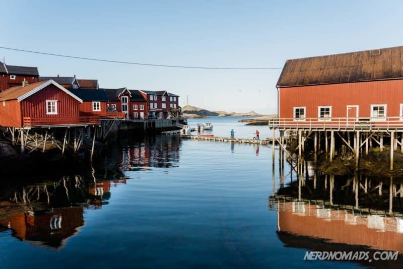 Beautiful clear water in Å, Lofoten, Norway