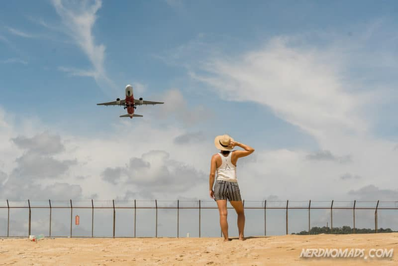 Mai Khao Beach is popular for taking photos of the airplanes