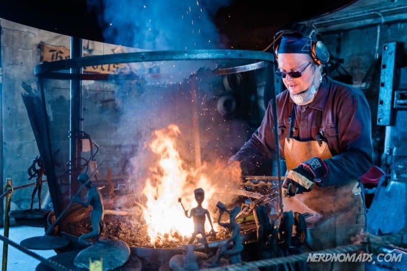 Blacksmith in Sund, Lofoten