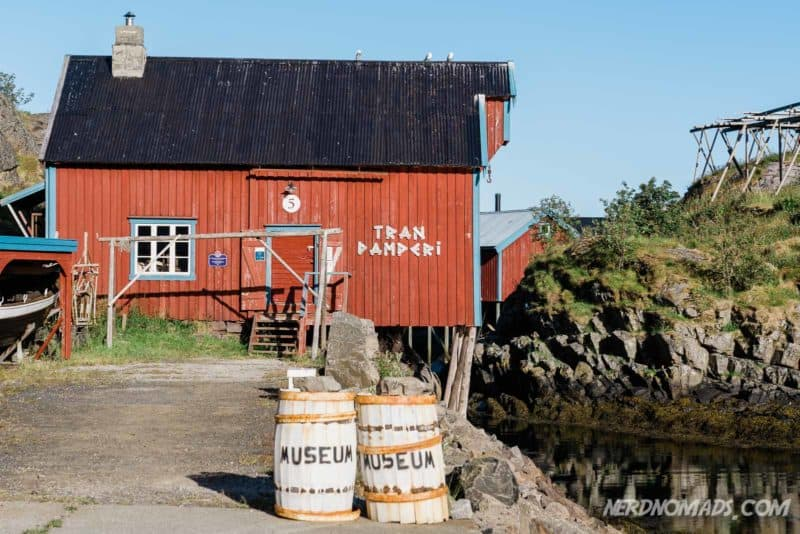 Fish Oil Factory at Norwegian Fishing Village Museum A Lofoten