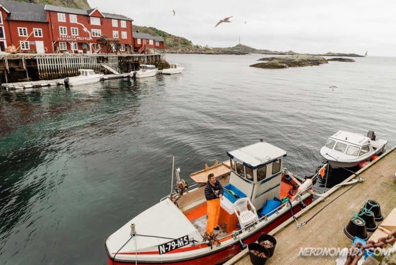 A fishing boat at Å in Lofoten