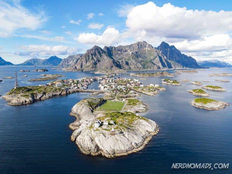 Henningsvaer city in Lofoten, Norway