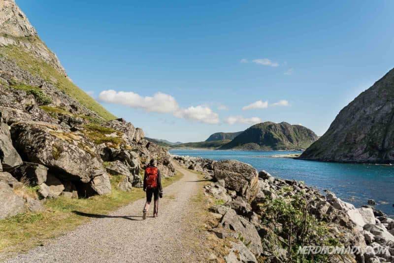 Hike between Uttakleiv and Haukland Beach Lofoten, Norway