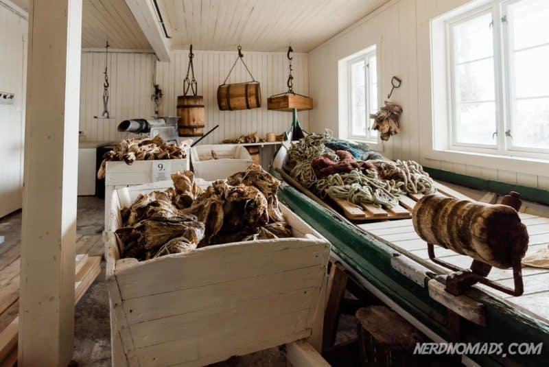 Inside the Lofoten Stockfish Museum
