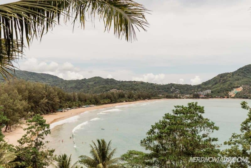 The bay of Kamala Beach in Phuket