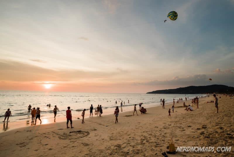 Sunset at Karon Beach, Phuket, Thailand