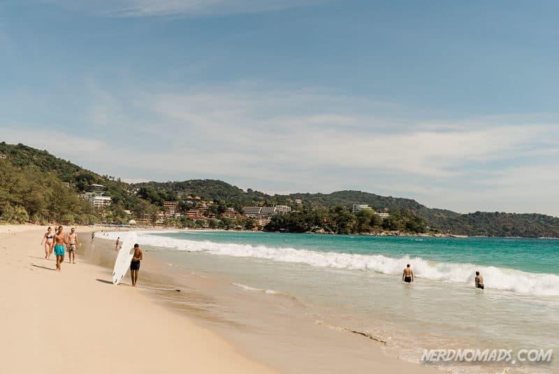 Kata Beach surfing Phuket, Thailand