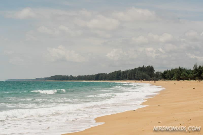 The stunning Mai Khao Beach Sirinat National Park Phuket Thailand