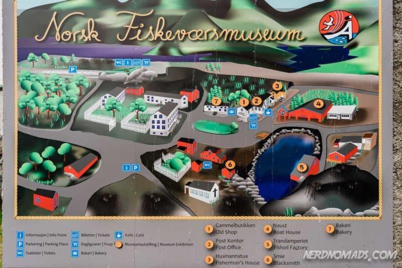 Map Norwegian Fishing Village Museum A Lofoten