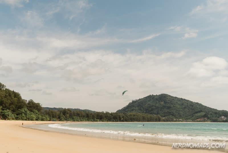 Kite surfing at Nai Yang Beach, Phuket, Thailand