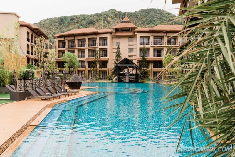 Swimming pool at Aurico Resort Kata Beach Phuket, Thailand