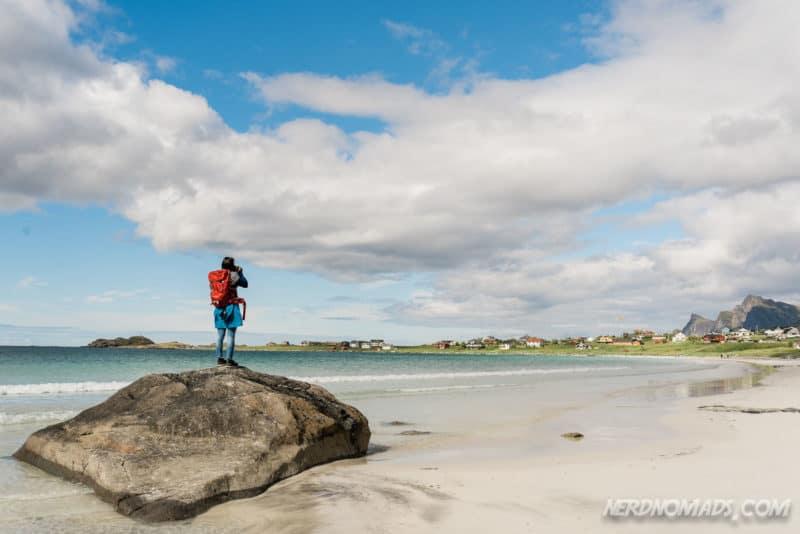 Photographing Ramberg Beach in Lofoten