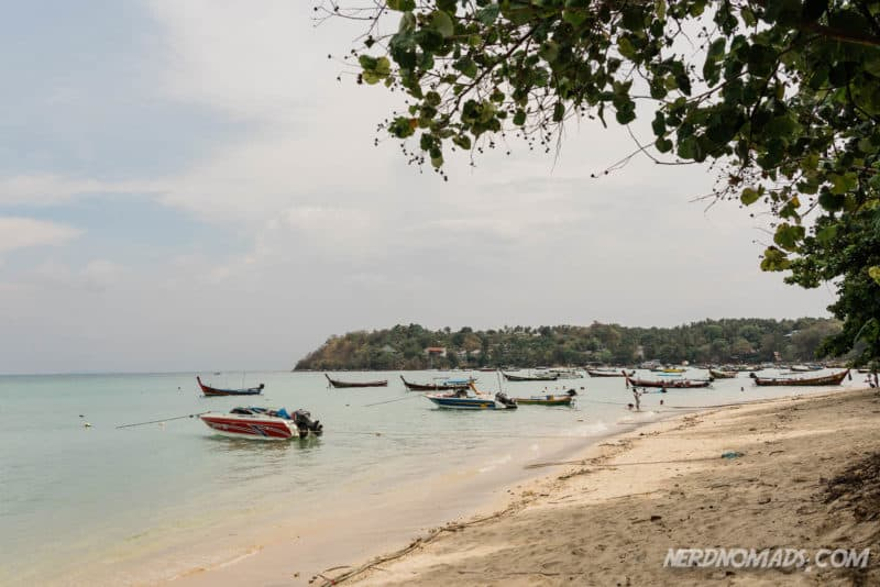 Rawai beach is not the best for swimming