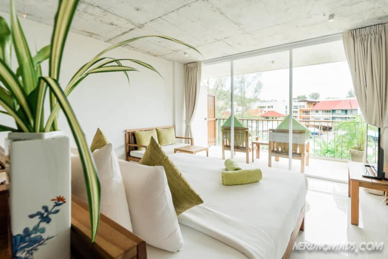 Our room at Wabi Sabi Hotel at Kamala Beach, Phuket, Thailand