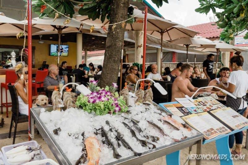 Sea food restaurant at Kamala Beach, Phuket