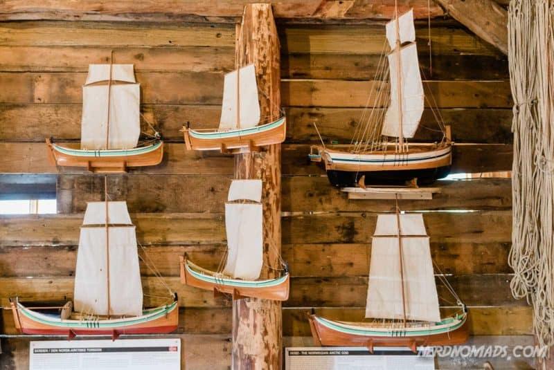 Small boats Norwegian Fishing Village Museum A Lofoten