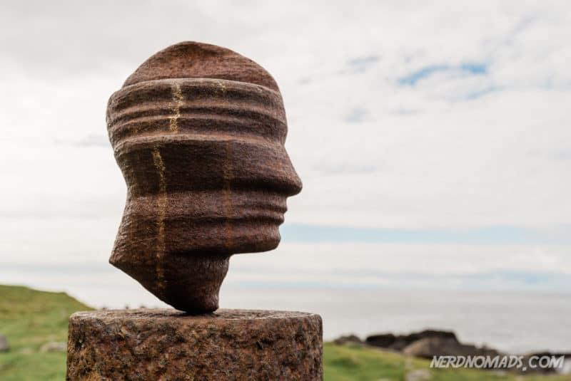 The Head art piece at Eggum, Lofoten