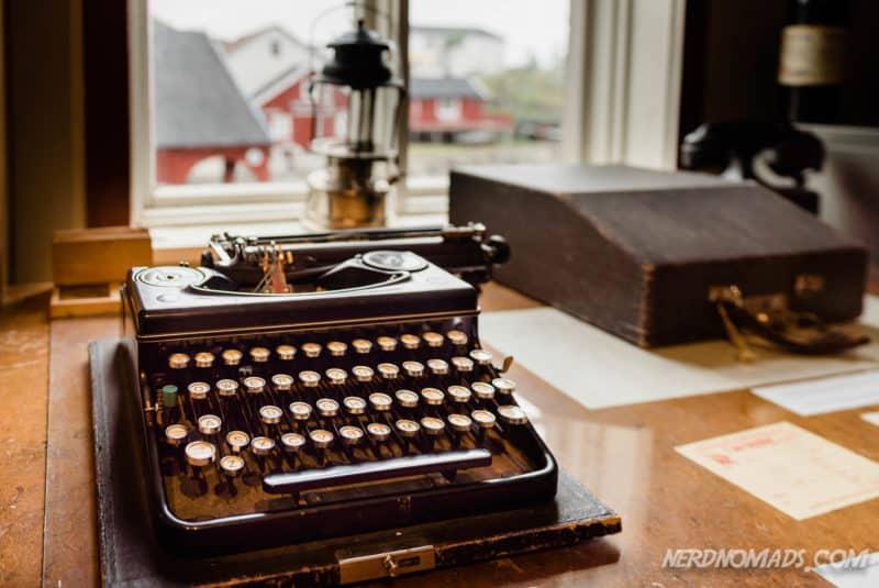 Typewriter Norwegian Fishing Village Museum A Lofoten