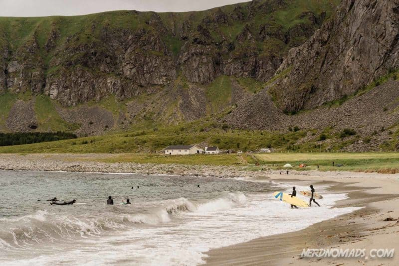 Unstad is the best place to surf in Lofoten
