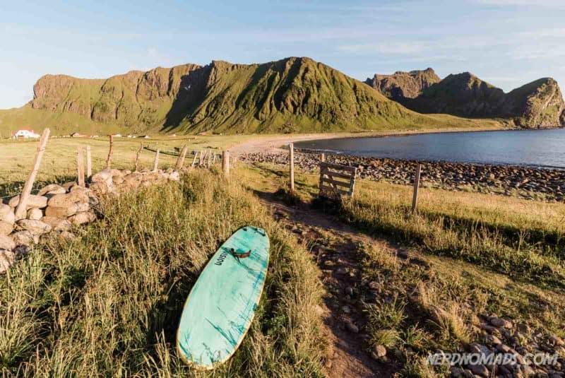 Surfing Unstad, Lofoten